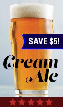 Save $5 Cream Ale