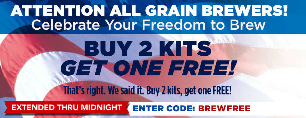 Buy 2 All-Grain Kits Get One Free!