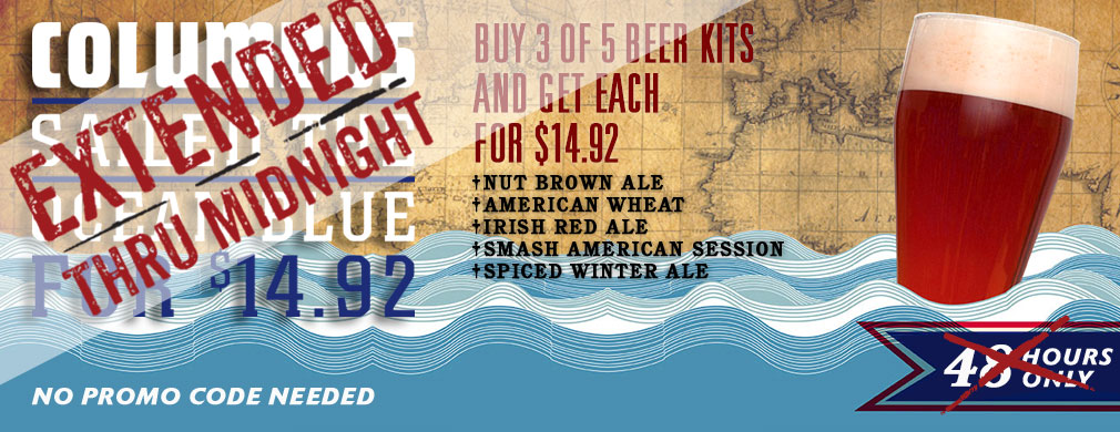 Beer Kits for $14.92 - A Columbus Day Promotion