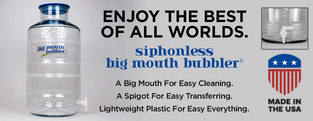 Siphonless Big Mouth Bubbler